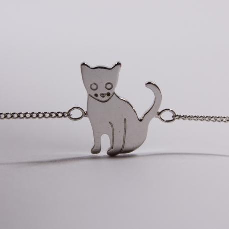 Bracelet Sacha le chat argent - Na na na naa