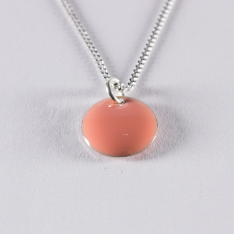 Collier confetti corail et argent - Na na na naa