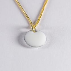 Pendentif confetti vermeil blanc - Na na na naa