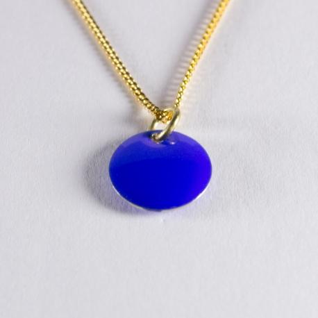 Collier confetti vermeil bleu électrique - Na na na naa
