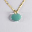Pendentif confetti vermeil turquoise - Na na na naa