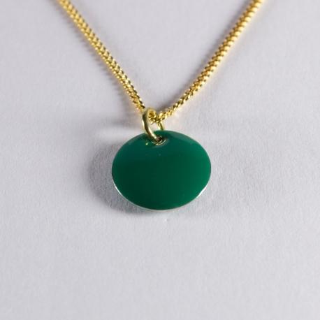 Pendentif confetti vermeil vert foncé - Na na na naa