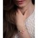 Bracelet vermeil avec confetti blanc - Na na na naa
