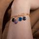 Bracelet vermeil avec confetti violet - Na na na naa