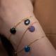 Bracelet vermeil avec confetti bleu nuit - Na na na naa