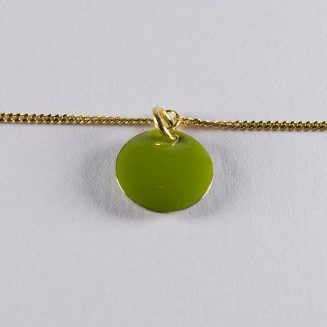 Bracelet vermeil avec confetti vert pomme - Na na na naa