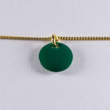 Bracelet vermeil avec confetti vert foncé - Na na na naa