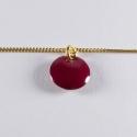 Bracelet vermeil avec confetti rose foncé - Na na na naa