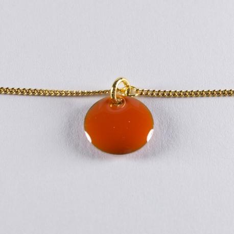 Bracelet vermeil avec confetti orange - Na na na naa