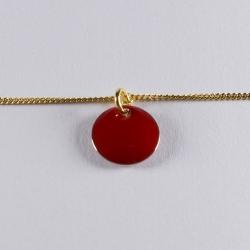 Bracelet vermeil avec confetti rouge - Na na na naa