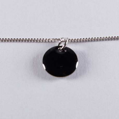 Bracelet argent avec confetti noir - Na na na naa
