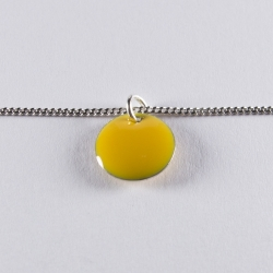 Bracelet argent avec confetti jaune  - Na na na naa