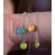 Bracelet argent avec confetti turquoise - Na na na naa