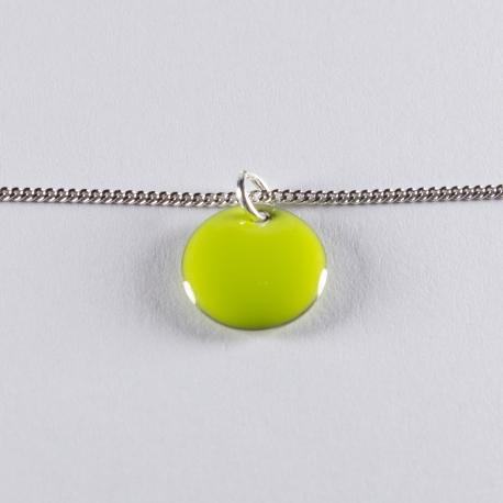 Bracelet argent avec confetti vert anis - Na na na naa