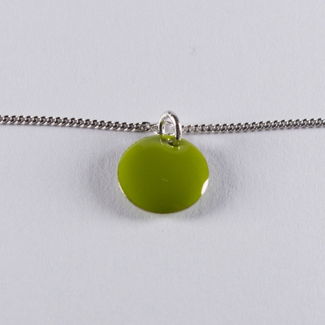 Bracelet argent avec confetti vert pomme - Na na na naa