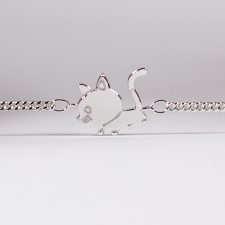 Bracelet Edmond le chaton argent - Na na na naa