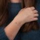 Bracelet chaine petit diamant bleu brut - Tiny Blue Galaxy