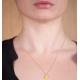 Collier confetti jaune et argent - Na na na naa