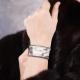 Bracelet en cuir de python gris chaîne plate - Aech Cheli
