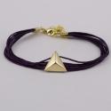 Bracelet fils violine motif pyramide plaqué or