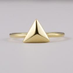 Bague Triangle plaqué or - L'Atelier d'Olivia