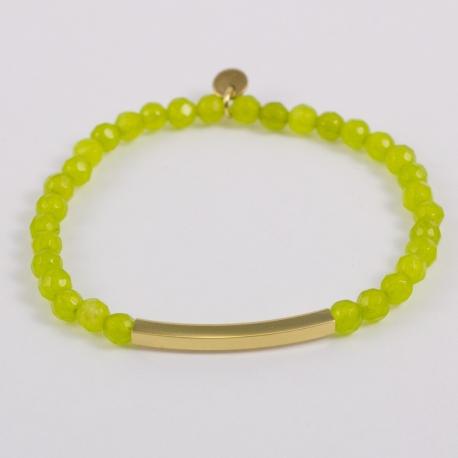 Bracelet citrine et rectangle plaqué or
