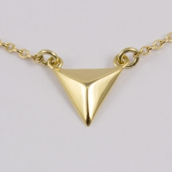 Collier Little Triangle Plaqué or - L'Atelier d'Olivia