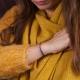 Bracelet tube plaqué or et cordons bleu dur