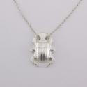 Pendentif Scarabée argenté simple - Schade Jewellery