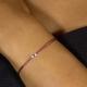 Bracelet fil bordeaux diamant bleu Blue Star