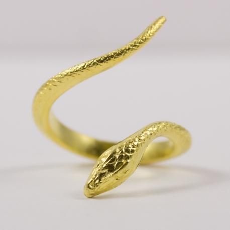 Bague serpent doré by Mélanie