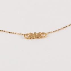 Collier noeud doré à l'or rose by Mélanie