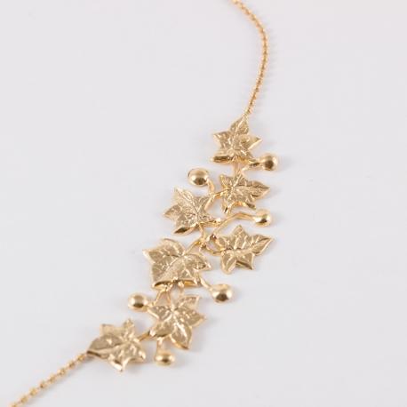 Collier feuilles de lierre doré à l'or rose by Mélanie