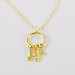 Collier clé doré by Mélanie