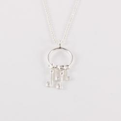 Sautoir clef argenté by Mélanie