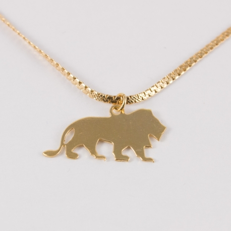 Collier lion doré à l'or rose by Mélanie