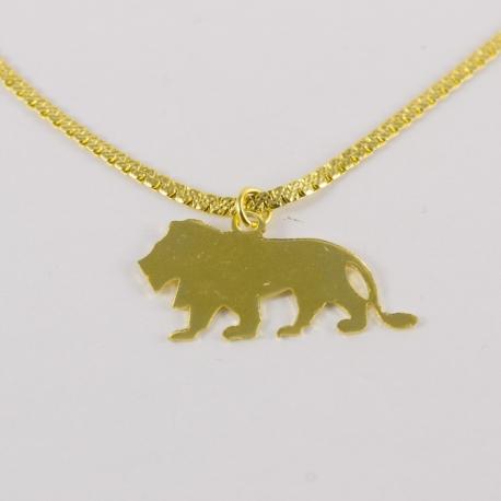 Collier lion doré by Mélanie