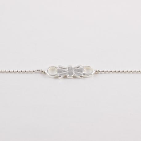 Bracelet noeud argenté by Mélanie