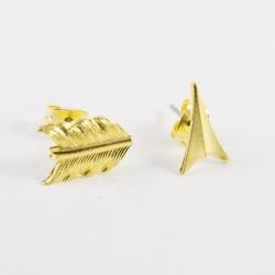 Boucle d'oreille fleche doré by Mélanie