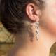 Boucles d'oreilles art déco argenté by Mélanie