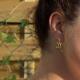 Boucles d'oreilles grenouille doré by Mélanie