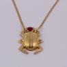 Collier scarabée bordeaux doré à l'or rose by Mélanie