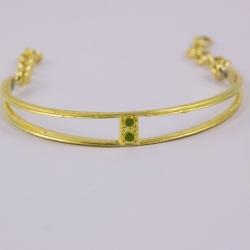 Bracelet ajouré vert doré by Mélanie