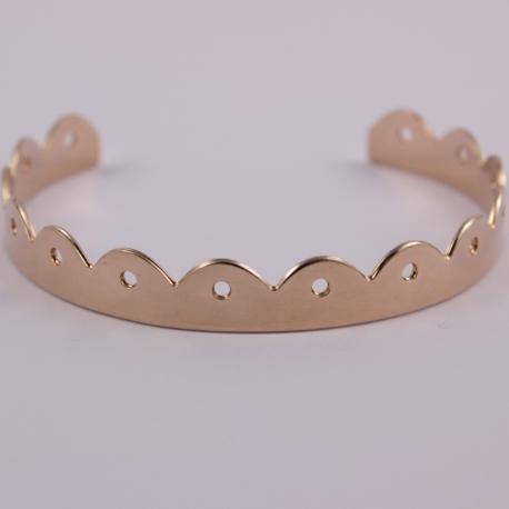Bracelet princesse or rose - Les Curiosités d'Elixir