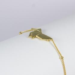 Bracelet asiatique plaqué or vif - LFDM