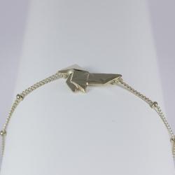 Bracelet origami plaqué or pâle by LFDM