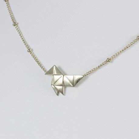 Collier origami plaqué or pâle by LFDM