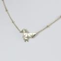 Collier origami doré or pâle by LFDM