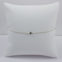Bracelet chaine petit diamant noir brut - Black Star
