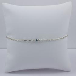 Bracelet chaine venitienne little diamant bleu brut Blue Star